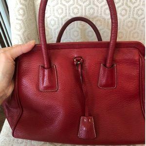 Prada leather red handbag/satchel